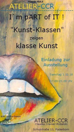 Ausstellung der Arbeiten von Malkursteilnehmern,  ATELIER-CCR, Schulstrasse 13, PB