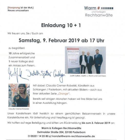 ORANGE  Ausstellung Anwaltskanzlei Warm&Kollegen, Paderbor